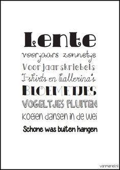 Lente - #Spring - #Frühling - Buy it at www.vanmariel.nl - Poster € 3,95 - Card € 1,25