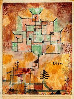 'Der Hirsh' - (1919) - Paul Klee