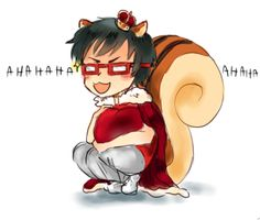 "Cheer Danshi - ""we'll be squirrel kings together"" (rottendoodles.tumblr.com/)"