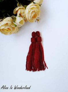 Bridal earrings, Garnet tassel earrings, statement earrings, red tassel earrings, bead tassel earrings, bohemian earrings, boho earrings New long beaded tassel stud/clip on earrings. Earrings made of high-quality Czech round beads.Also I can make the same style in any color and