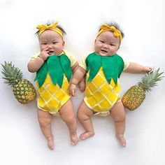 Our comfortable pineapple baby costume is perfect for an impromptu photo shoot or Halloween!