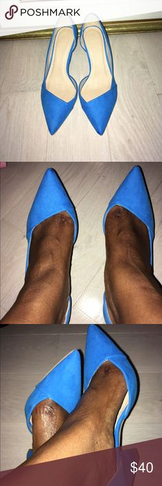 Cute electric blue heels. Cute blue heels, only worn indoors to try them on. Shoes Heels