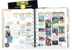 summer memory planning in The BIG Happy Planner™ of mambi Design Team member…