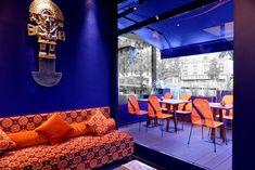 Paris / RM design et Kevin Machefert - Guide Fooding® Ethnic Chic, Paris Hotels, Bean Bag Chair, Restaurant, Furniture, Temple, Home Decor, Shop, Travel