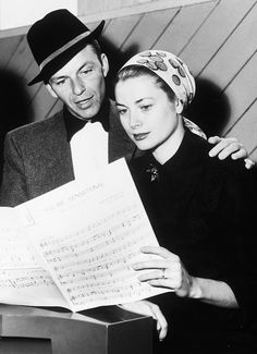 Frank Sinatra & Grace Kelly in rehearsal for High Society (1956)