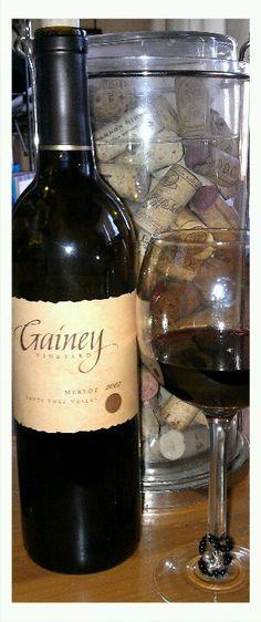 Gainey Vineyard 2007 Merlot #Merlot #wine Merlot Wine, Red Wine, Cabernet Sauvignon, Wine Cocktails, Alcoholic Drinks, Top Wines, Grapes And Cheese, Woman Wine, Wine And Liquor