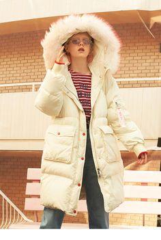 405b8c610e2f Womens Clothing   Accessories · Beautiful Gifts · Duck Down Puffer Coats  Good Quality Ladies Down Coat Thickening Ladies Long Coat Harajuku Zip  Hoodies