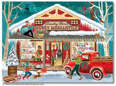 See our favourite awesome Retro Vintage Christmas Cards, mid-century modern Christmas cards. Nostalgic Christmas card designs from the and Company Christmas Cards, Modern Christmas Cards, Christmas Past, Retro Christmas, Vintage Holiday, Country Christmas, Christmas Pictures, Holiday Cards, Primitive Christmas
