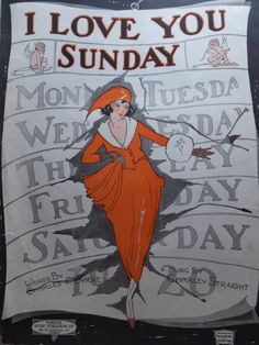 Vintage sheet music art...