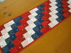 Quilted Table Runner Patriotic by PatchworkMountain on Etsy by millicent