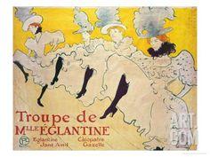La Troupe De Mlle. Eglantine Giclee Print by Henri de Toulouse-Lautrec at Art.com
