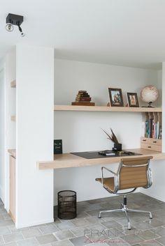Home Office Space, Home Office Design, Home Office Decor, Home Decor, Office Ideas, Study Room Design, Study Nook, Bedroom Decor Lights, Regal Design