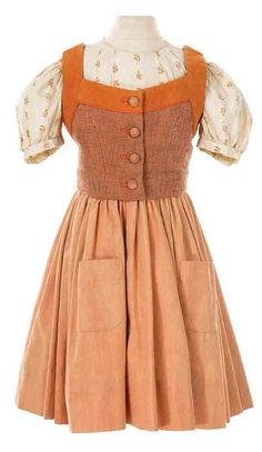 """Costumes worn by Julie Andrews """"Maria"""" and the """"Von Trapp children"""" from The Sound of Music"""