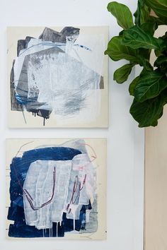 A collection of abstract paintings by Heather Day.