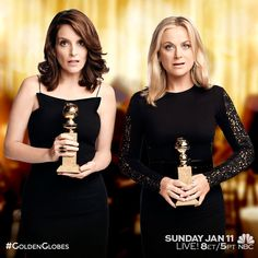 Join these two silly ladies for Hollywood's favorite night! The #GoldenGlobes are this Sunday, January 11 at 8pm ET on NBC.