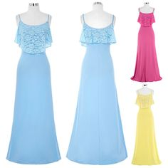Summer Long Lace Bridesmaid Formal Gown Ball Party Cocktail Evening Prom Dress #GraceKarin #Maxi #SummerBeach