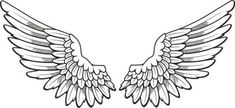 Hand-painted angel wings PNG and Clipart Tattoo Justin, Justin Bieber Tattoos, Angel Wings Clip Art, Angel Wings Drawing, Angel Art, Stencils Tatuagem, Tattoo Stencils, Wing Neck Tattoo, Chest Tattoo