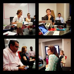 Our education team working hard in the New York City office! #education #newyorkcity