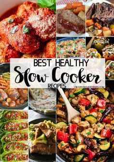 Best Healthy Slow Cooker Recipes to help you have a nutritious meal while still being health conscious! You can make simple & easy dishes that are healthy #healthy #slowcooker #crockpot #dinner #healthydinners #easyrecipes