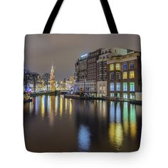 Tote Bags - Amsterdam Colors Tote Bag by Nadia Sanowar