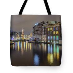 Tote Bags - Amsterdam Colors Tote Bag by Nadia Sanowar