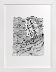 """""""capsized"""" by blackwhite press in beautiful frame options and a variety of sizes."""