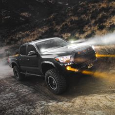 Check out this badass shot taken by the dynamic duo 🔥This is from the last night run up at Rowher Flats! Looking forward to… Toyota Tacoma 4x4, Tacoma Truck, Toyota Tundra, Toyota 4runner, Jeep Truck, Lifted Tacoma, Chevy Silverado, Toyota Sequioa, Tacoma Accessories