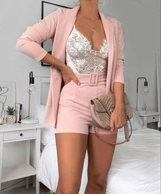 Teen Fashion Outfits, Mode Outfits, Cute Casual Outfits, Look Fashion, Stylish Outfits, Girl Outfits, Casual Shorts Outfit, Hijab Fashion, Winter Fashion