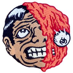 Melting Man Patch Colored | Scumbags & Superstars