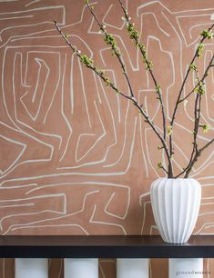 Graffito Wallpaper - Groundworks by Kelly Wearstler Cream Wallpaper, Wallpaper Size, Wallpaper Samples, Geometric Wallpaper, Interior Design Inspiration, Home Interior Design, Kelly Wearstler Wallpaper, Wallpaper Furniture, Home Gifts