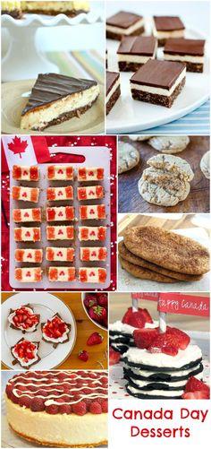Canada Day Desserts #Recipes #CanadaDay http://www.momsandmunchkins.ca/2014/06/12/canada-day-desserts/