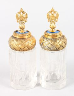 """FABERGE SCENT BOTTLES 