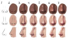 Semi-realism nose - step by step by Sandramalie on DeviantArt