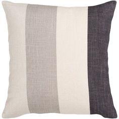 "Surya Striking Stripe Throw Pillow Size: 22"", Color: Red/Brown/Tan/Beige, Filler: Polyester"