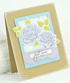 Just Because Card by Nichole Heady for Papertrey Ink (July 2012)