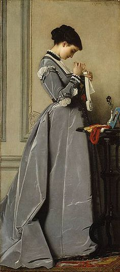 Look at the folds of the dress!  Charles Francis Marchal (French artist, 1825-1877) Penelope 1868