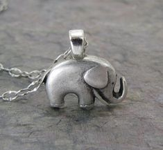 Elephant Necklace Antiqued Silver Jewelry Good luck by CuteAbility, $17.00, someone i know would like this