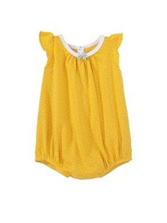 Petit Bateau Baby girl romper with polka dot print Yellow - House of Fraser
