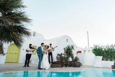 Santorini Weddings - The Diamond Rock Wedding Planner & Packages Santorini Wedding Venue, Wedding Venues, Greece Style, Villa Pool, Pool Wedding, Santorini Greece, Wedding Photoshoot, Live Music, Bride Groom