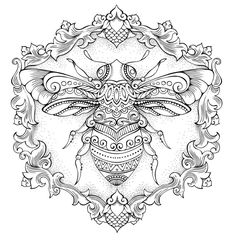 Community wall photos | VK Bee Coloring Pages, Free Adult Coloring, Adult Coloring Book Pages, Coloring Sheets, Coloring Books, Henna Drawings, Bug Art, 1 Tattoo, Shadow Art