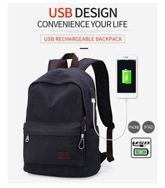 Canvas College Student School Backpack Bags Vintage Mochila Casual Tra –  ecenturydeals.com Travel Packing 5631fdbfc3265