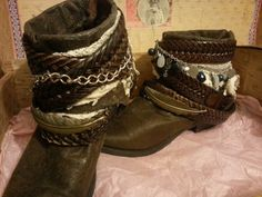 Bohemian Up Cycled Cowgirl boots. by moovmint on Etsy