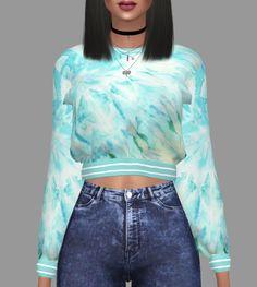 Kenzar Sims: Marigold Sweatshirt Retextured • Sims 4 Downloads
