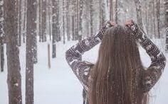 зимние фотографии девушек в лесу - Google Search