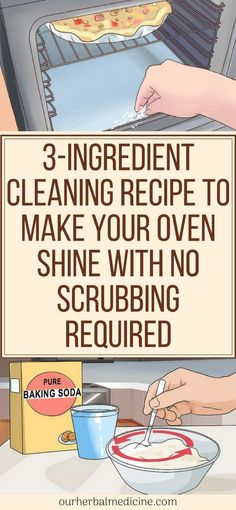 Cleaning Recipe to Make Your Oven Shine With No Scrubbing Required - Herbal Medicine Cleaning Recipes, Diy Cleaning Products, Cleaning Hacks, Homemade Lemonade Recipes, Oven Cleaner, Strawberry Banana Smoothie, Speed Cleaning, Diy Cleaners, Fitness Motivation Quotes