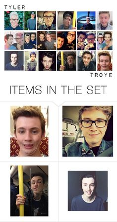 """Tyler and Troye ~ Troyler"" by desireewolfe ❤ liked on Polyvore featuring art, YouTubers, youtube, tyleroakley, troyesivan and troyler"