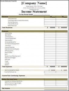 sample church balance sheet and income statement