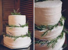 beautiful, simple wedding cake (Brooke Courtney Photography)