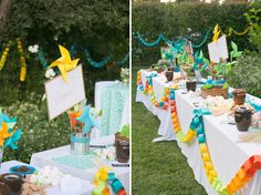 Backyard Colorful Paper Chain Wedding: Leslie + Nolan