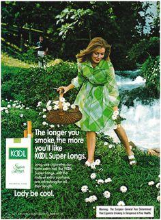 1975 Advertisement for Kool Cigarettes